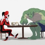 Harley and Croc Play Chess