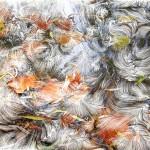 Leaf and Perlin Stream by Stinging Eyes
