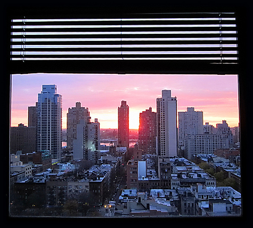 Window Facing Queens at Sunrise by Callie Del Boa