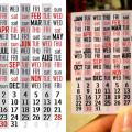 mini calendar by Eliazar Parra Cardenas