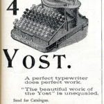 Number 4 Yost Writng Machine 1896 by Jussi