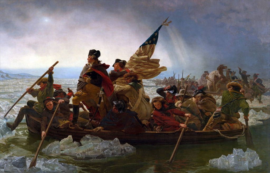 Emmanuel Gottlieb Leutze, Washington Crossing the Delaware, 1851, oil on canvas. VIA THE METROPOLITAN MUSEUM OF ART/LICENSED UNDER CC0 1.0